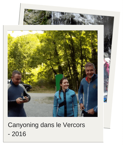 Soft Aventure Canyoning dans le Vercors - 2016