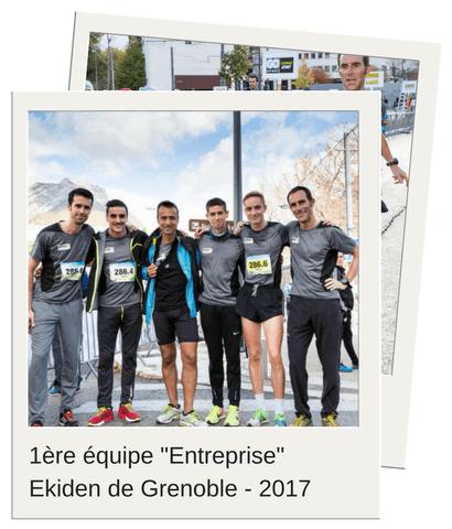 1ère équipe entreprise de l'Ekiden de Grenoble 2017