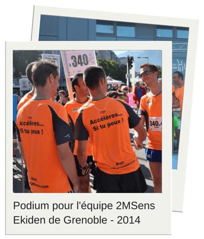 equipe 2MSens 2eme entreprise ekiden grenoble 2014