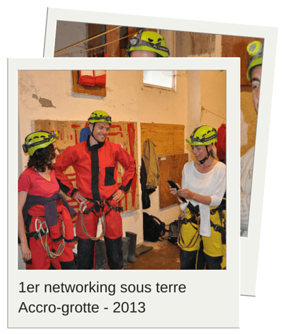 networking sous terre accrogrotte 2MSens 2013