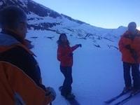 Consignes d'Isabelle Blanc aux éditeurs de logiciel lors de la sortie ski pour les 5 ans de 2MSens