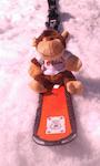 Mascotte de Lokoa- éditeur de logiciel Clermont Ferrand, en sortie ski Softaventure 2MS