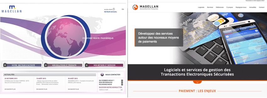 refonte site web et identite visuelle editeur de logiciel magellan