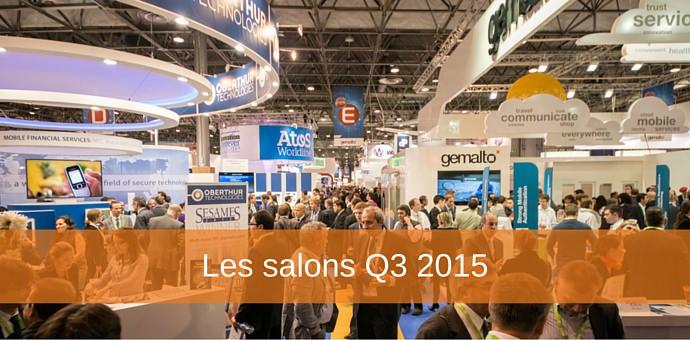 salons q3 2015 pour editeurs de logiciels