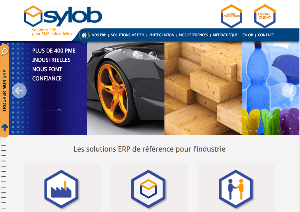 Refonte site web Sylob - marketing editeur de logiciel
