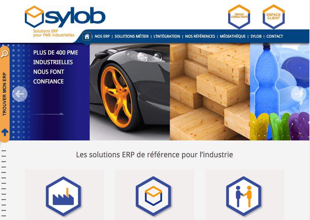 Refonte site web Sylob - marketing editeur de logiciel
