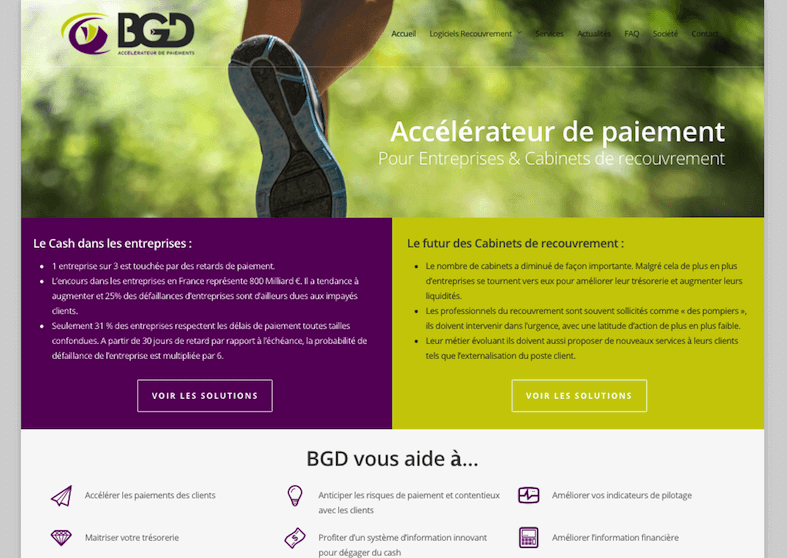 Refonte site web - marketing editeur de logiciel - BGD (Collectys)