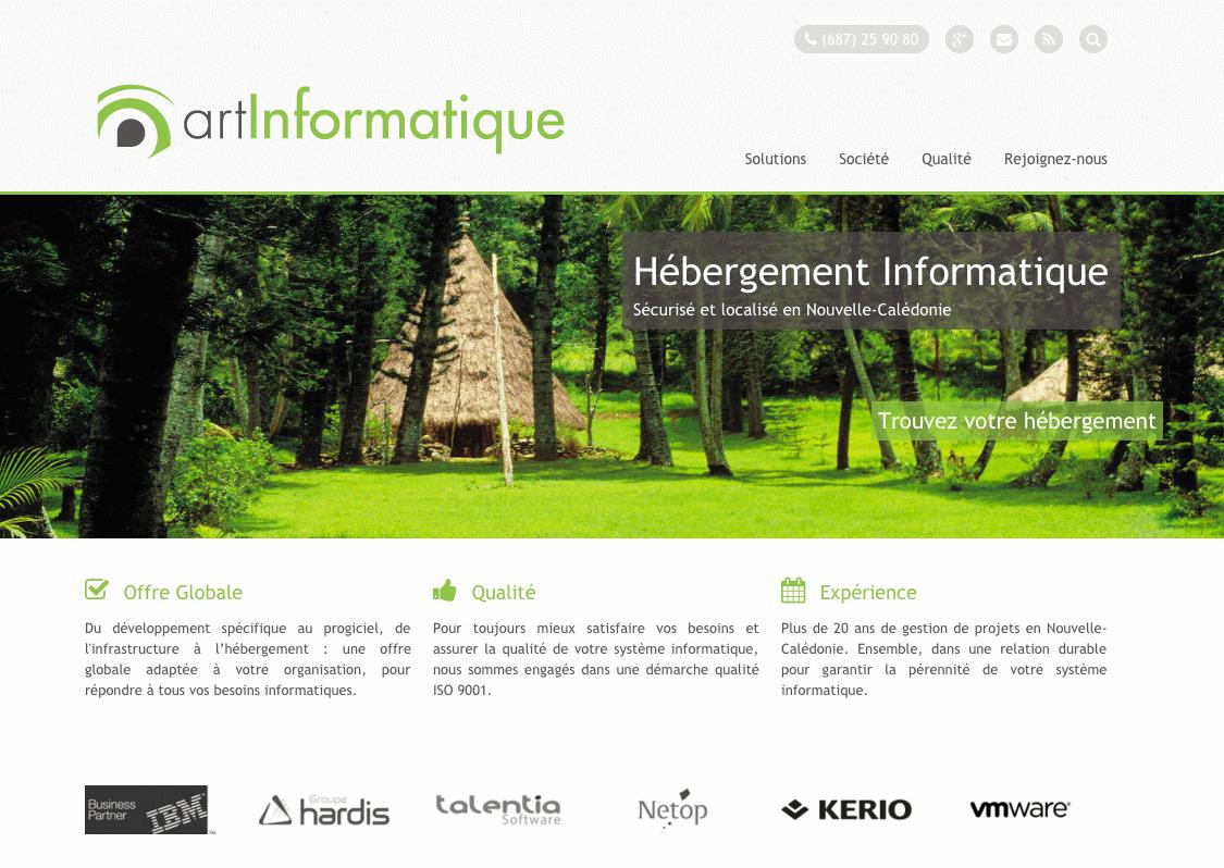 Refonte web site - marketing editeur de logiciel - ART Informatique