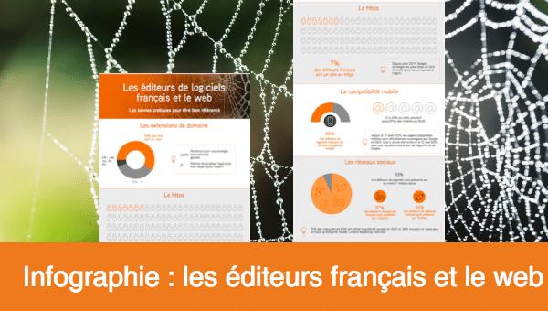 infographie les editeurs de logiciels francais et le web 2016
